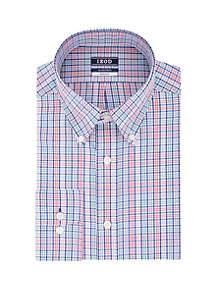 IZOD Regular fit Stretch Multi Check Button-Down Shirt