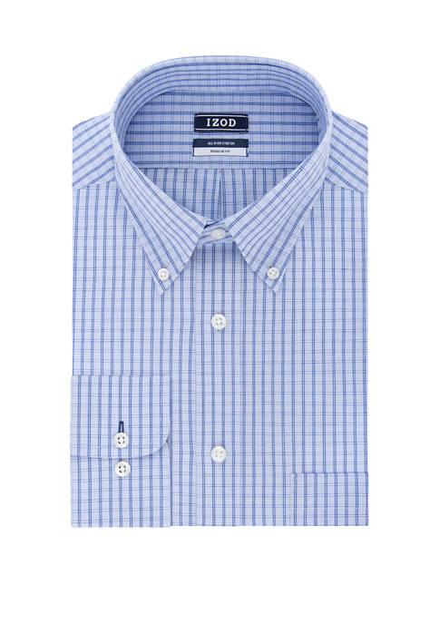 Regular Fit Stretch Check Button Down Shirt