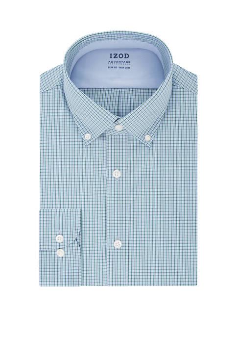 Slim Fit Mini Check Dress Shirt