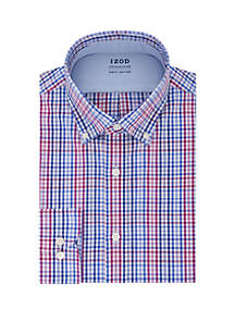 IZOD Slim Fit Checkered Button Down Shirt
