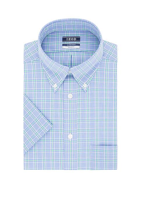IZOD Regular Fit Plaid Print Dress Shirt