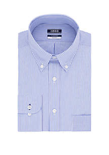 IZOD Regular Fit Striped Dress Shirt