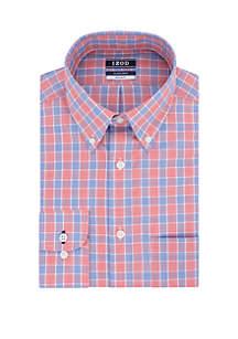 IZOD Big & Tall Long Sleeve Cool Fashion Plaid Shirt