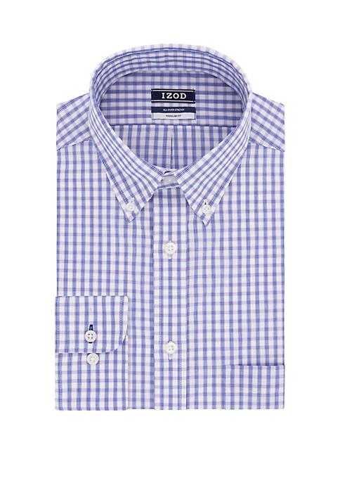 Big & Tall Long Sleeve Cool Fashion Plaid Shirt
