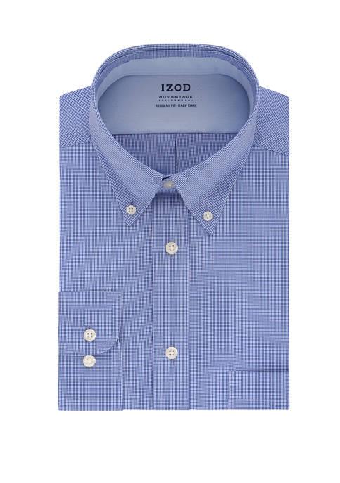IZOD Advantage Cool FX Regular Check Print Dress