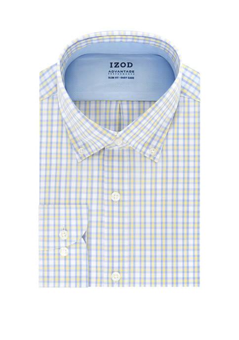 IZOD Big & Tall Advantage CoolFX Check Print