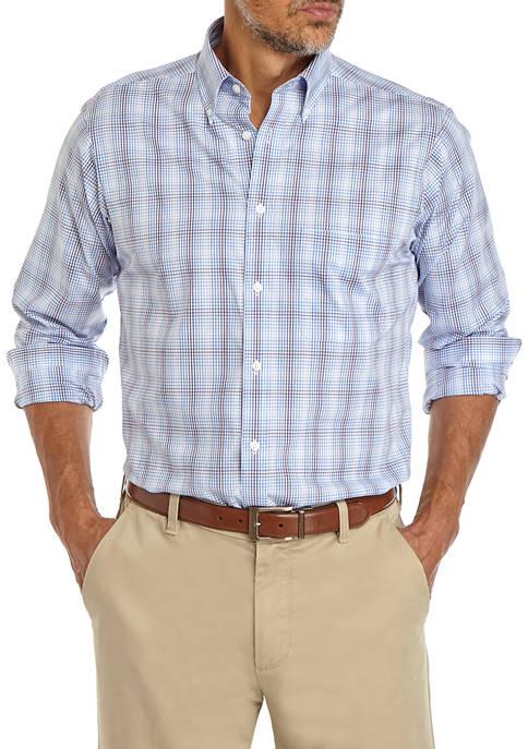Big & Tall Multi Check Button Down Shirt