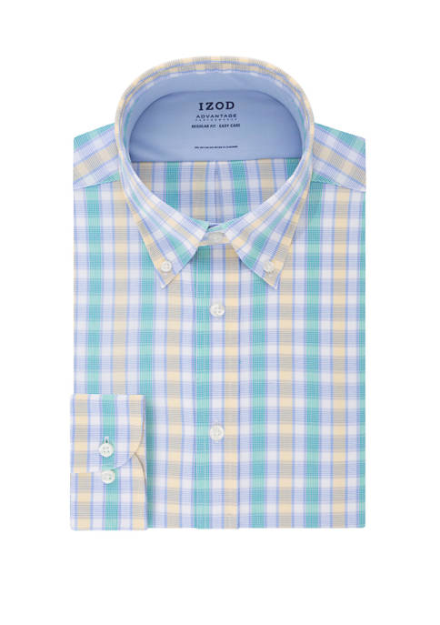 IZOD Mens Advantage Cool FX Regular Check Print