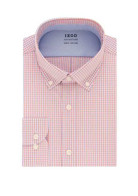 IZOD Mens Cool FX Slim Fit Check Print