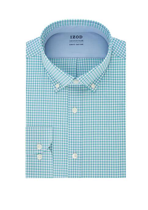 IZOD Advantage CoolFX Slim Fit Check Print Dress