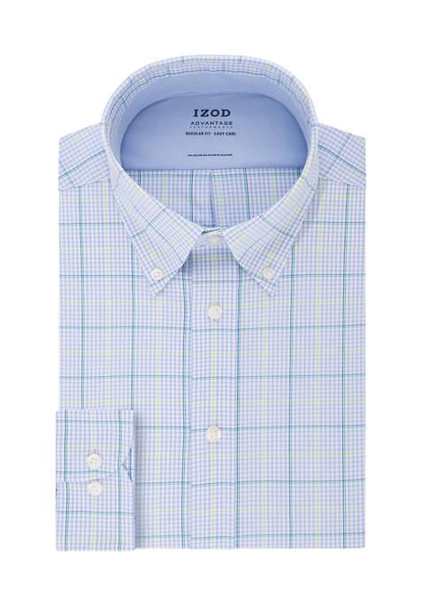 Big & Tall Advantage Cool FX Tall Fit Check Print Dress Shirt
