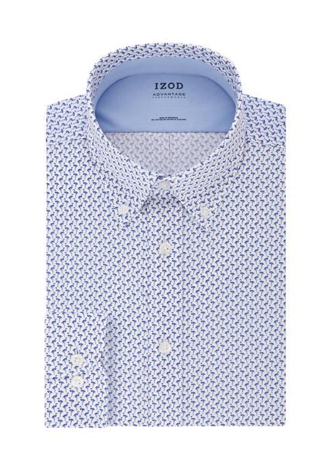 IZOD Big & Tall Flamingo Print Dress Shirt
