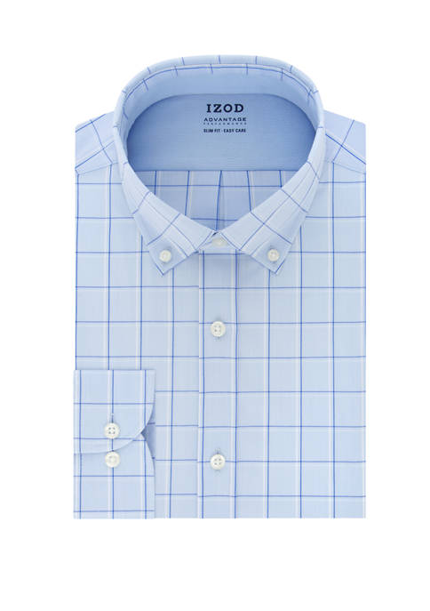 IZOD Advantage CoolFX Slim Fit Windowpane Print Dress