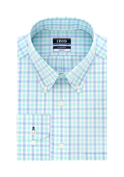 Big & Tall Check Print Dress Shirt