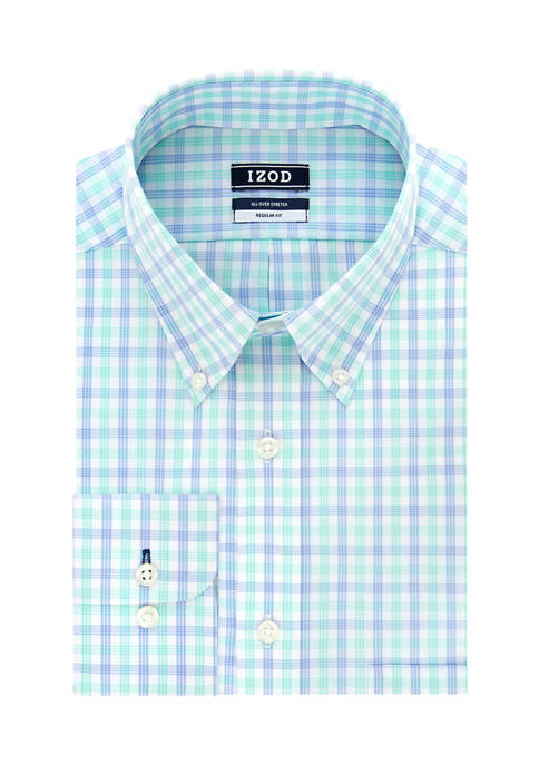 Big & Tall Long Sleeve Plaid Dress Shirt