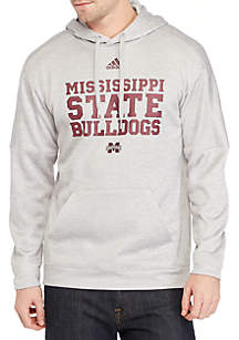adidas Mississippi State Bulldogs Team Issue Sideline Fire Fleece Hoodie