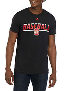 adidas NC State Safe At Home Go To Performance T Shirt