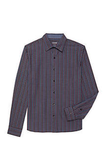 Long Sleeve Never Tuck Woven Shirt