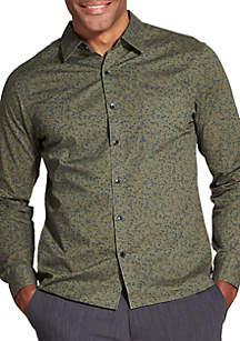 Slim Never Tuck Long-Sleeve Button-Down Shirt