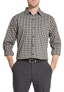 Van Heusen Traveler Plaid Non Iron Classic Fit Shirt