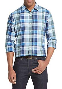 Van Heusen Air Soft Plaid Long Sleeve Shirt