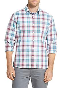 Van Heusen Never Tuck Plaid Slim Fit Shirt
