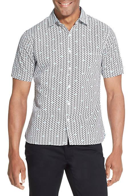 Never Tuck Printed Slim Fit Shirt