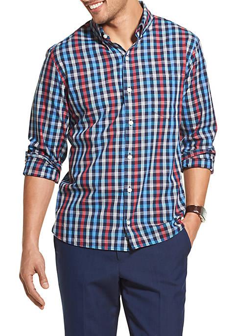 Van Heusen Never Tuck Slim Fit Check Shirt