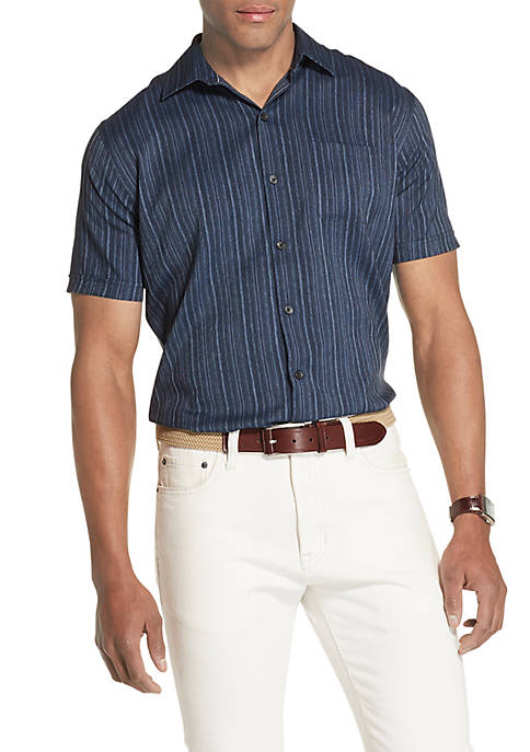 Van Heusen Air Textured Classic Fit Short Sleeve
