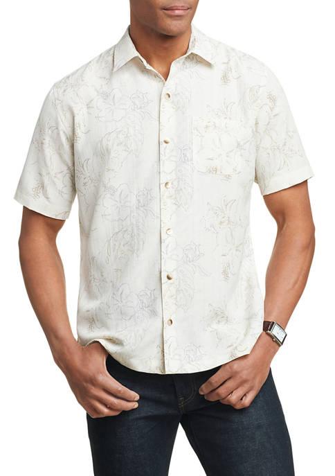 Mens Air Camps Classic Fit Printed Short Sleeve Shirt