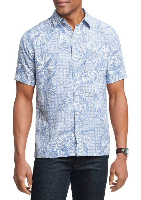 Air Camps Classic Fit Printed Short Sleeve Shirt