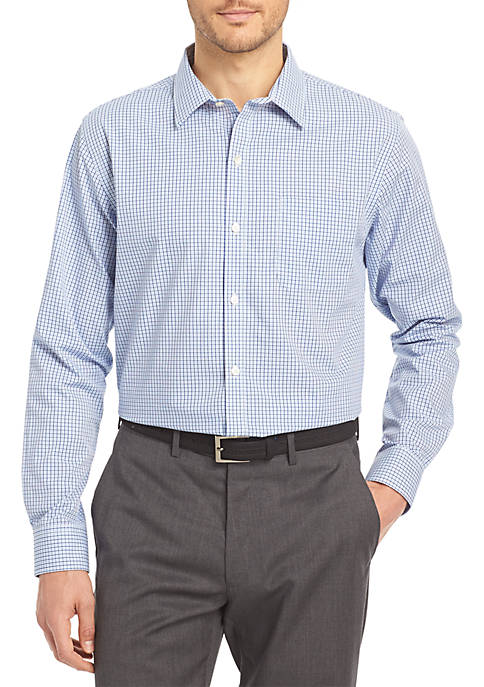 Van Heusen Non-Iron Multi Check Traveler Stretch Shirt