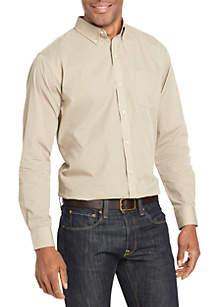 Long Sleeve Wrinkle Free Poplin Shirt