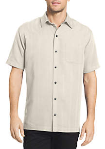 Van Heusen Short Sleeve Dobby Polo Shirt