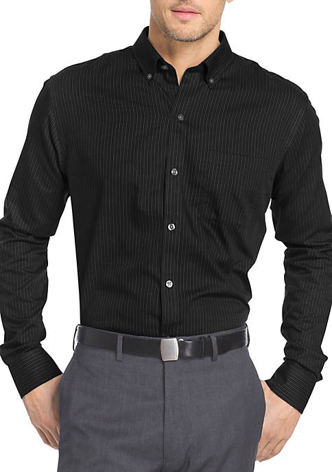 Van Heusen Long Sleeve Wrinkle-Free Twill Stripe Shirt