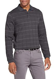 Flex Jasper Windowpane Polo Shirt