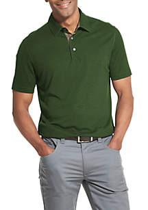 Two-Toned Collar Polo Shirt