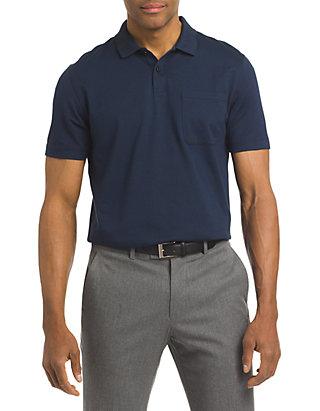 f2a846b2445 Van Heusen. Van Heusen Short Sleeve Feeder Stripe Polo Shirt