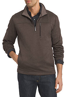 Van Heusen Long Sleeve Traveler Solid 1/4 Zip Pullover