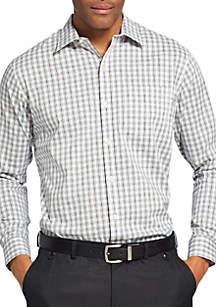 Big & Tall Traveler Perforation Stretch Non-Iron Dress Shirt