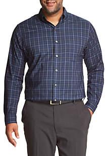 Big & Tall Windowpane Button Down Shirt