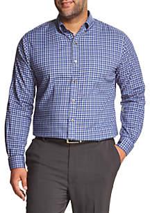Big & Tall Flex Non-Iron Stretch Long-Sleeve Button-Down Shirt