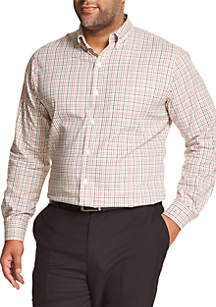 Big & Tall Van Heusen Flex Non-Iron Stretch Long-Sleeve Button-Down Shirt