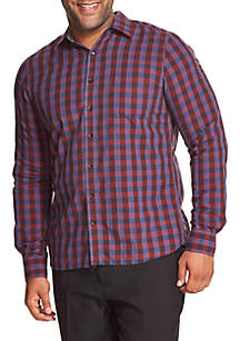 Big & Tall Never Tuck Long Sleeve Button Down Shirt