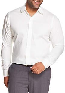 Big & Tall Striped Long Sleeve Button Down Shirt