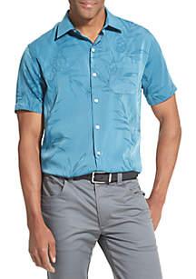 Van Heusen Big & Tall Air Printed Non Iron Short Sleeve Shirt