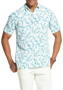 Van Heusen Big & Tall Van Heusen Air Printed Non Iron Short Sleeve Shirt