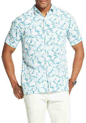 Van Heusen Big   Tall Van Heusen Air Printed Non Iron Short Sleeve Shirt ... 306c29f50
