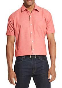 Van Heusen Big & Tall Air Textured Short Sleeve Shirt