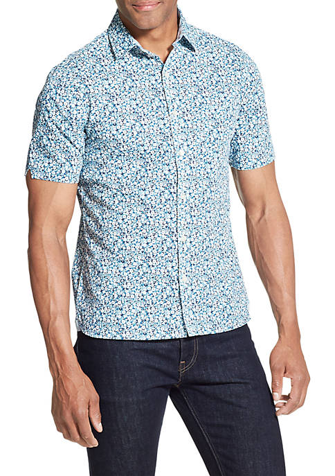 Big & Tall Never Tuck Printed Slim Fit Shirt